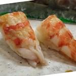 節魚 すし宗 - 天草の天然車海老・・味噌も付いて甘くて美味しい。