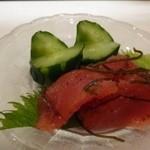節魚 すし宗 - 自家製明太子・・マイルドで昆布の風味もよく美味しいですね。日本酒に合いますよ。