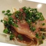 節魚 すし宗 - ◆鯖を頂けない私には「鰤」が出されました。 鰤自体も脂がのり美味しいのですが「ゴマダレ」も風味がよくいいお味。