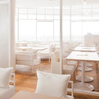 白を基調とした店内は、自然光が差し込む柔らかな空間です◎