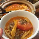 47185390 - 《トマトチーズ煮込み麺》1,188円                       2016/1/31