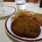 レストラン・テル - Aランチ(メンチカツ・チキンコロッケ)¥400円