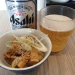 ばりき家 - メンマ、缶ビール