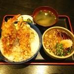ときわ - Higher天丼に ミニたぬきそば❤ ヾ(*≧∀≦)ノ゙