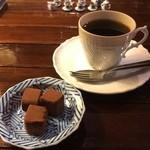 カフェ・トロワバグ - トリュフチョコレート + トロワブレンド