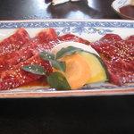 浜忠焼肉レストラン - 上カルビ&上ハラミ(タレ)