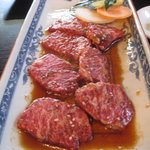 浜忠焼肉レストラン - 上ロース(タレ)