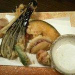 藪へゑ - 熱々で出てきた野菜の天麩羅