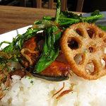 kong tong - カレーの素揚げ野菜