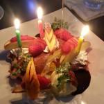 沖縄のコワーキングスペースと居酒屋 エンタメ酒場NRG - BIRTHDAY予約して出してくれました♪