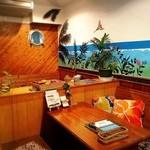 ハイビス カフェ - スタッフ手書きの店内です。