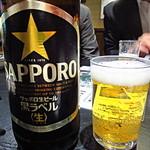 えんざ - 乾杯用の「SAPPORO黒ラベル」(2016.Feb)
