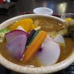 ヴァカンス - 鎌倉野菜と丸ごとチキンの和風スープカレーアップ