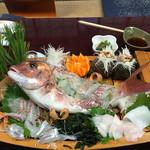 みたき - 鯛、真魚鰹、イカ、サヨリ、サザエ