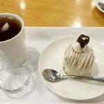 47211531 - ケーキセット(モンブラン+アールグレー)720円