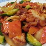 47211966 - 鶏肉辛子炒めアップ