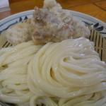 手打うどん 麦蔵 - かしわざるうどん620円。