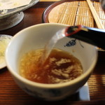 蕎誠庵あさひ - 蕎麦湯