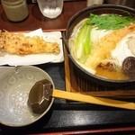 47215877 - 2015/11 鍋焼きうどん 稲荷セット+桜島ささみ天