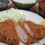 むさしや - 上ロースかつ定食【2016年1月】