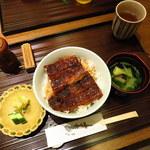 澤千 - 澤千のうなぎ上丼 3000円と肝吸い200円 2016.2.6撮影