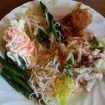 チムニーギオット - サラダバーから… 土曜日には 見かけなかった  タコとセロリのサラダ に感激!