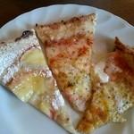 チムニーギオット - ピッツァバーから  焼きたて色々!甘いデザートピッツァも 数種類あります♪