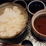 酔牛亭 - ご飯、味噌汁