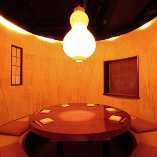 めずらしい樽型の個室