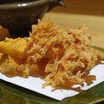 蕎麦 流石 - 桜えびの天ぷら