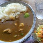 あじーる - チキンカレー[大] + チンゲン菜