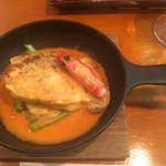 ヴィラージュ - 牡蠣と白身魚とエビのピカタ