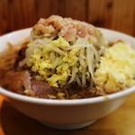 47226383 - 小ラーメン・野菜少なめ・ニンニクマシマシ・アブラ・ショウガ