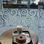 スターバックス・コーヒー - 一番端っこの一人がけソファをゲット
