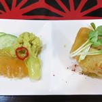 zuien - 前菜のジャガイモの煮物・クラゲ・野菜。