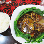 zuien - お値段は、1,540円(前菜・サラダ・スープ・おかわり自由のご飯付・税別)とお高めですが、             量は2人で分けても余りある位のボリュームで来ますので、結果的には大満足の品でした。
