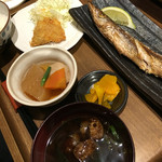 あそ処のたこ焼き - 塩焼き(カマス)定食(900円)
