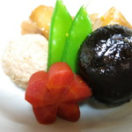 うを徳 - 旬菜の旨煮吹き寄せ 海老芋 つくね 椎茸の含め煮 麩