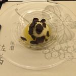 祇園 佐橋 - 金目鯛の蒸し焼きとトランペット茸のリゾット