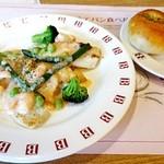 47234201 - カジュアルセット\1290選べる主菜;白身魚の明太子クリームソース