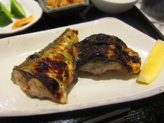 炭火魚 旬彩料理 坂本 - 鯖塩焼き¥950 H27.7
