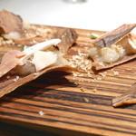 クラフタル - ゼブラウッド風 帆立貝のチップスとマッシュルーム、帆立、フォアグラテリーヌ