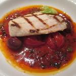 47237577 - カジキの網焼きトマト、オリーヴ、フレッシュハーブ香るソース
