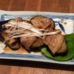 47237638 - 豚肉とナスのオイル炒め(350円)