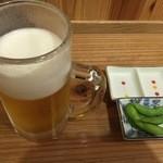 47238205 - 生ビールとお通し