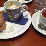 ムーミンハウスカフェ - スーベニアプレートとアロマティー