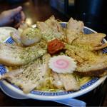 47242531 - 辛味噌チャーシュー麺(大盛り) 煮玉子トッピング☆