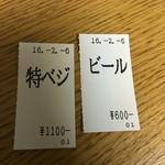 ソラノイロ ニッポン - 食券