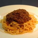 八丁味噌ミートソースのスパゲティ