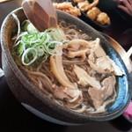 そば処 ひろ - 肉そば冷680円/28年2月6日